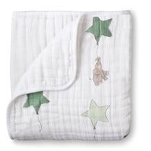 Gratis verzending Aden anais Herfst pasgeboren benodigdheden babygaas houdt dekens verdikking 100% Mousseline katoen 2 lagen met label 300g