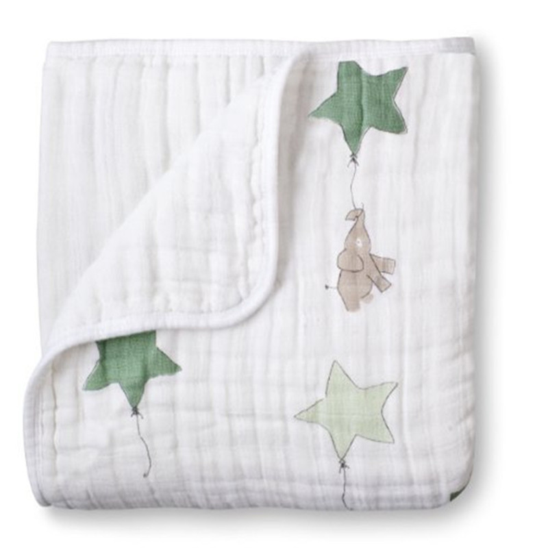 ant aden anais Multifunctional Gauze Newborns Receiving Blankets Bedding Infant Cotton 2Layers <font><b>Swaddle</b></font> Towel Muslin Baby Blanket