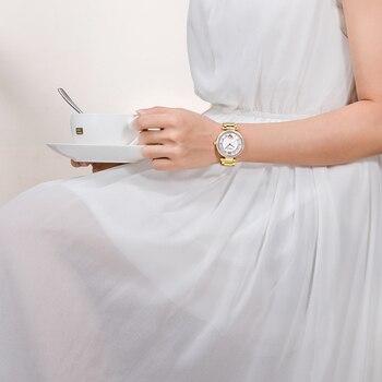 2017 New Time-limited Top Fashion Ultrathin Gold Ladies Watches Steel Watchband Saphire Waterproof Quartz Women Clock Watch 5