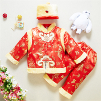 Kids Clothes Spring Festival Girls Winter Baby Sets Tang Suit Chinese Style Warm New Year Fashion