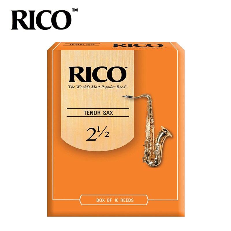 RICO Derppde Tenor Bb Sax Reeds Strength 2.5#, 3.0# Orange Box of 12