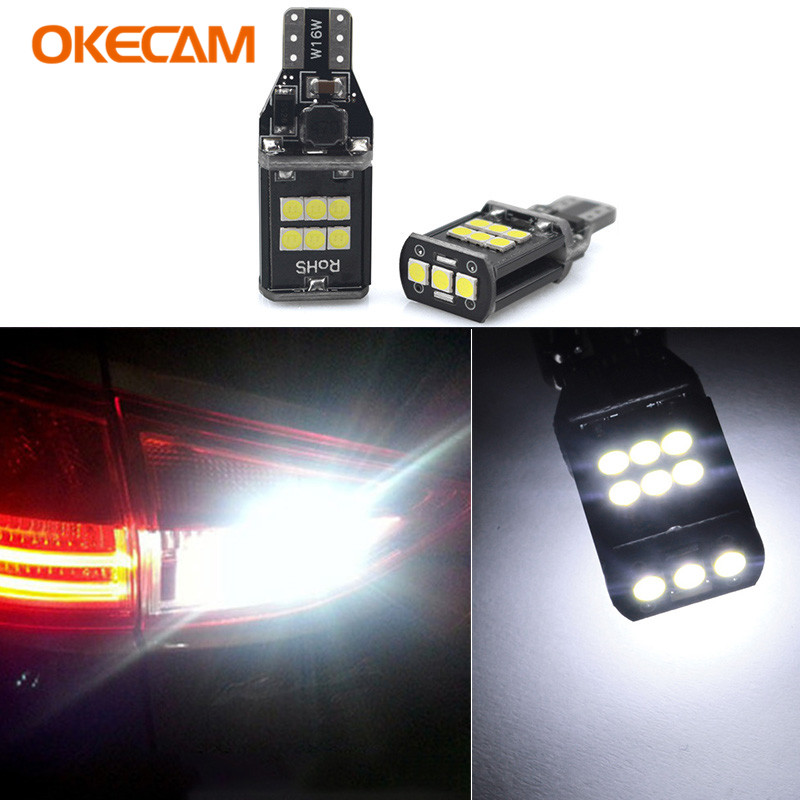 OKECAM 2x T15 LED Canbus Error Free Bulbs Reverse Lights 921 912 W16W Backup Light Lamp for Nissan Juke 2011 2012 2013 2014 2015