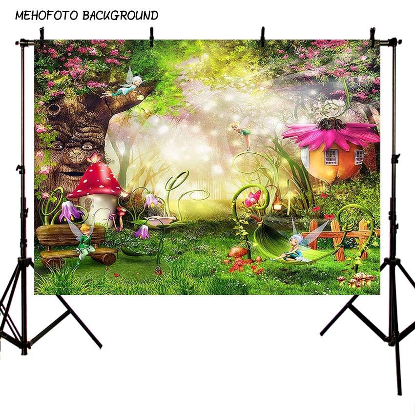 Laeacco 7x5ft Cartoon Fairytale Living Room Interior Backdrop Vinyl Warm Room Pink Sofa Cushions Flowers TV Set Air Fan Bright Windows Green Curtains Background Birthday Party Banner Child Baby Shoot