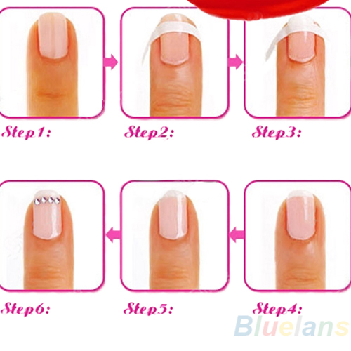 Aliexpress Each Pack Includes 48 Guides French Manicure Nail Tips Art Form Fringe Sticker Diy Stencil 0568 From Reliable Stencils
