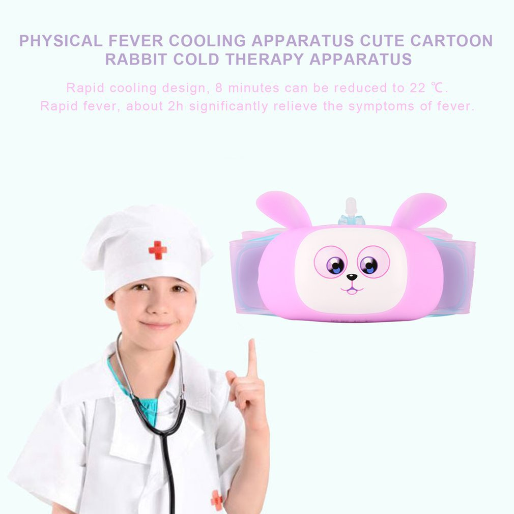 Portable Intelligent Physical Fever Cooling Apparatus Cute Cartoon Rabbit Fever Therapy Apparatus For Kids Health Care Monitor цена и фото