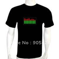 promotional el t-shirt,sound actived el t-shirt,flashing led t-shirt