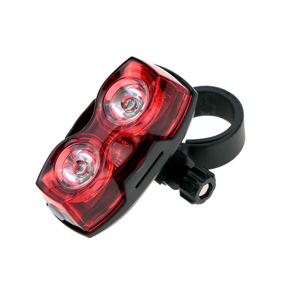 2 LED Waterproof Bike Tail Light Lamp Rear Warning Light 3 Mode with Mount Clip