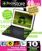 10.2 inch 40GB Boda GOOGLE ANDROID Jelly Bean 4.2 TABLET PC CAPACITIVE SCREEN E READER PAD TAB Bundle 10 Keyboard