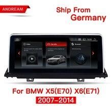 10,25 «4 ядра Android 4,4 Автомобильный мультимедийный интерфейс для BMW X5 E70 X6 E71 gps навигации Поддержка CIC CCC iDrive ID6 EVO НБТ