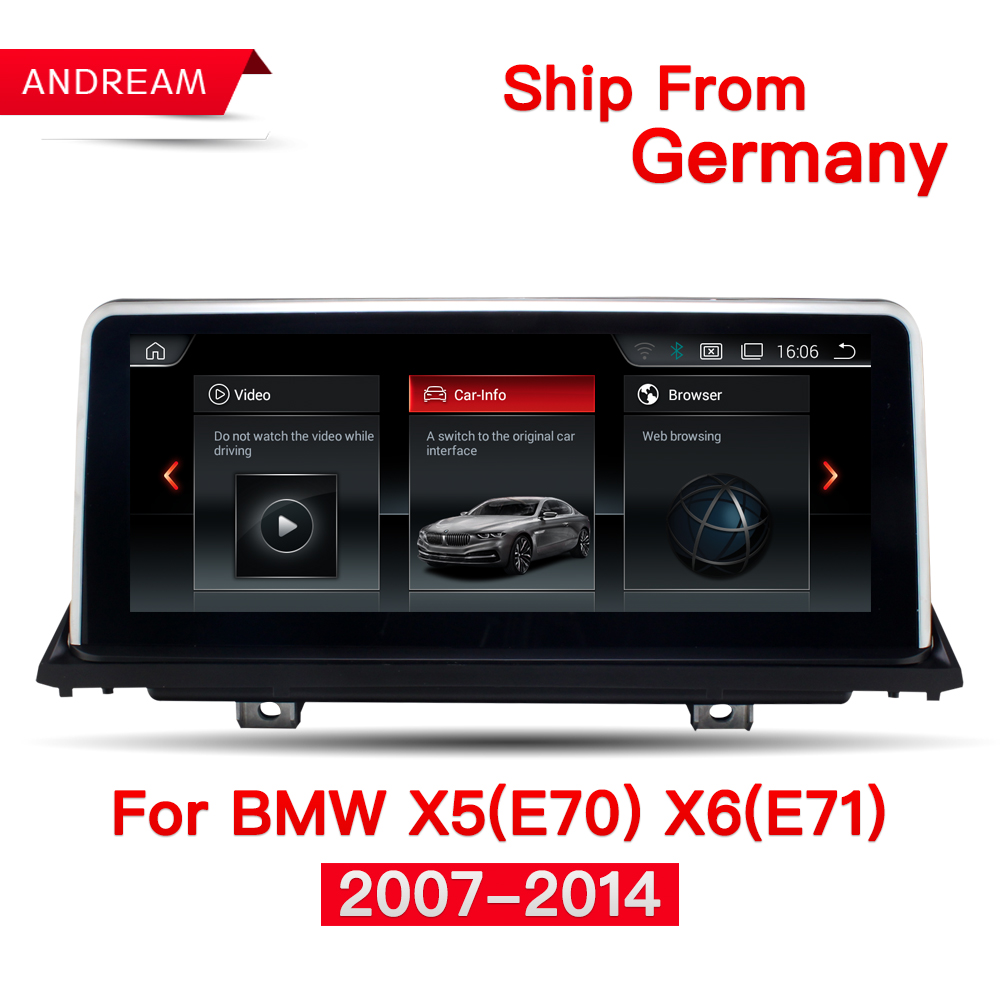 10.25 Quad Core Android 4.4 Voiture multimédia interface pour BMW X5 E70 X6 E71 GPS Aide à la Navigation CIC CCC iDrive ID6 EVO NBT