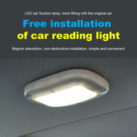 1Pcs Easy Install Automobile USB Charging Magnetic Suction Car Dome Reading Lamp Interior Rear Compartment Lights