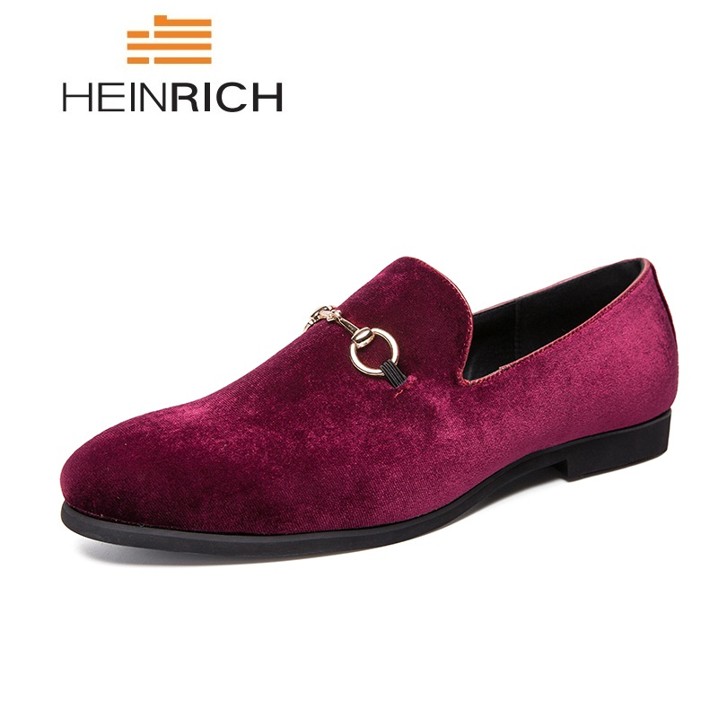 HEINRICH Fashion   Suede   Men's Casual Shoes Comfortable Dress   Leather   Loafer Shoes Men Breathable Flat Shoes Men Mocassini Uomo