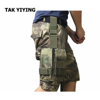 TAK YIYING Tactische Molle Dubbele M4 5.56mm Magazine Bag Voor Airsoft Paintball Drop Been Panel Utility Bag