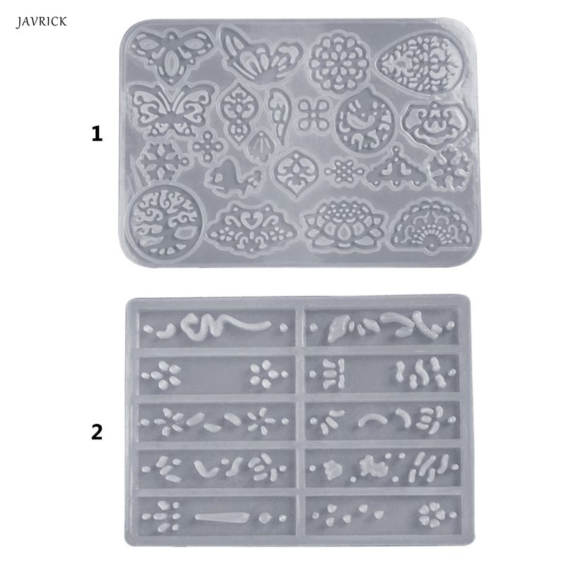 Ancient Style Long Earrings Pendant DIY Crystal Epoxy Mold High Mirror Silicone Molds Jewelry Making