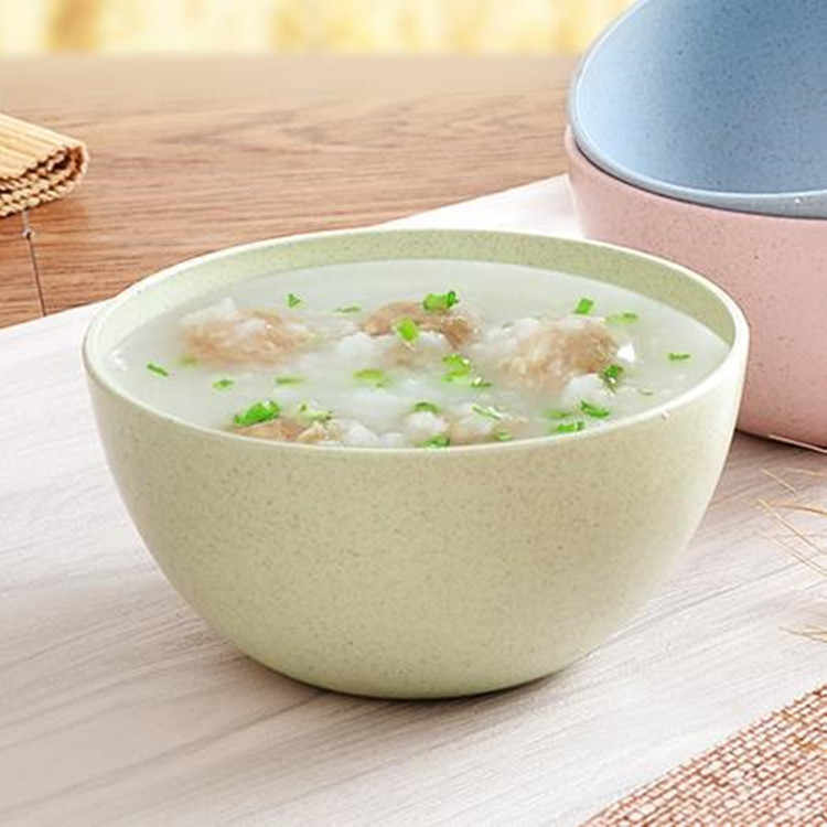 New Eco-friendly Infant Wheat Bowl Straw Household Baby Rice Noodle Salad stalk Bowl Household wheat Tableware