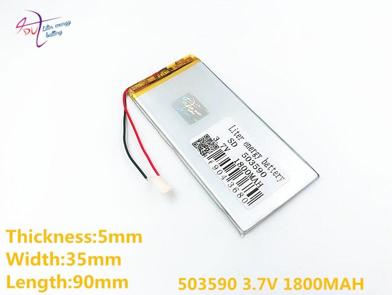 Unterhaltungselektronik Stromquelle 3,7 V 1800 Mah 503590 053590 Lithium-polymer Li-po Li Ionen Akku Zellen Für Mp3 Mp4 Mp5 Gps Mobile Bluetooth Spezieller Kauf