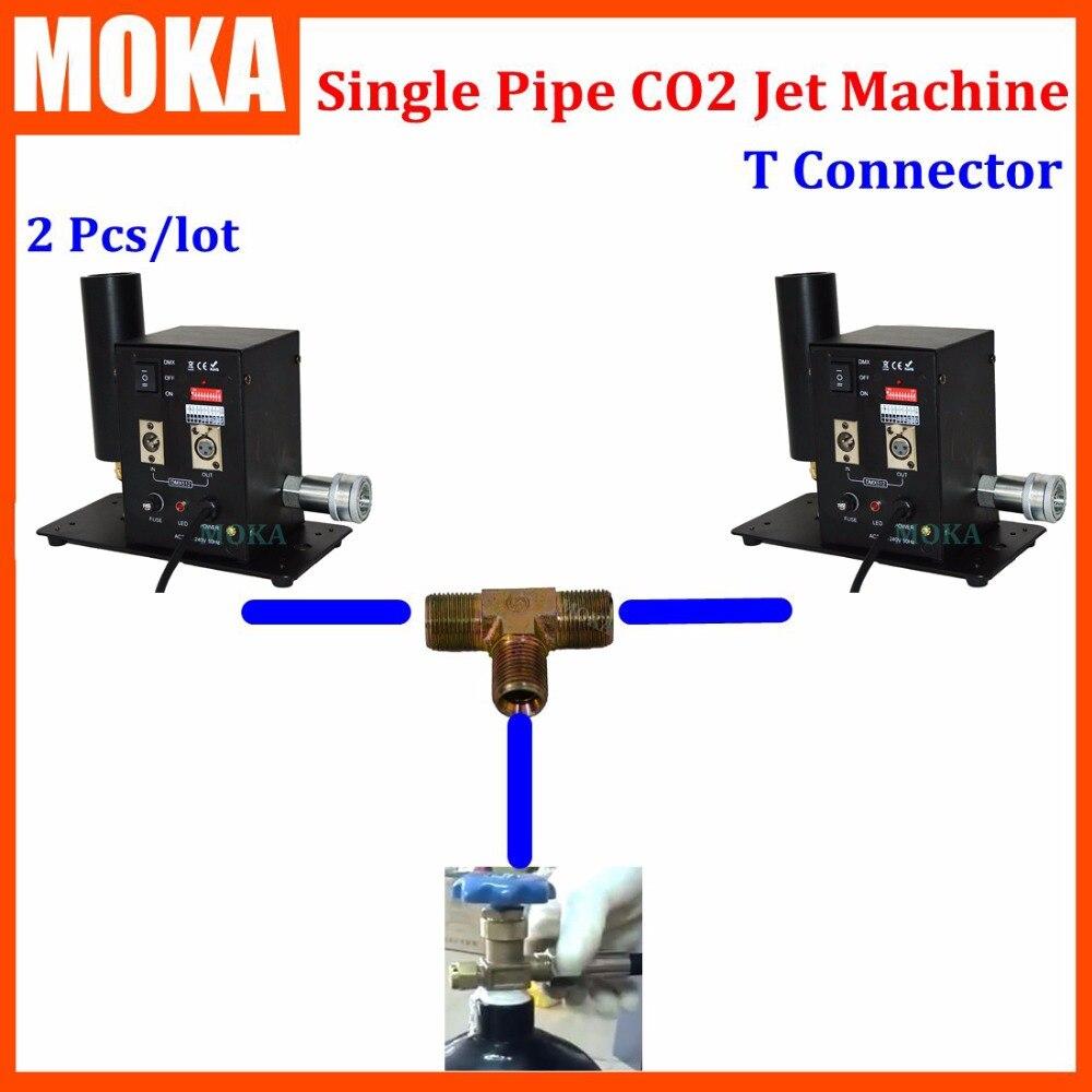 2 Pcs lot co2 jet machine dmx co2 jet cannon Stage Effect Light 2pcs Co2 jets