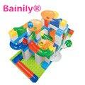 [Bainily] 94 UNIDS Crazy Ball Gránulos Grandes Bola De Plástico Ensambladas Bloques de Pista de Los Niños Educación Compatible Legoe Duplo