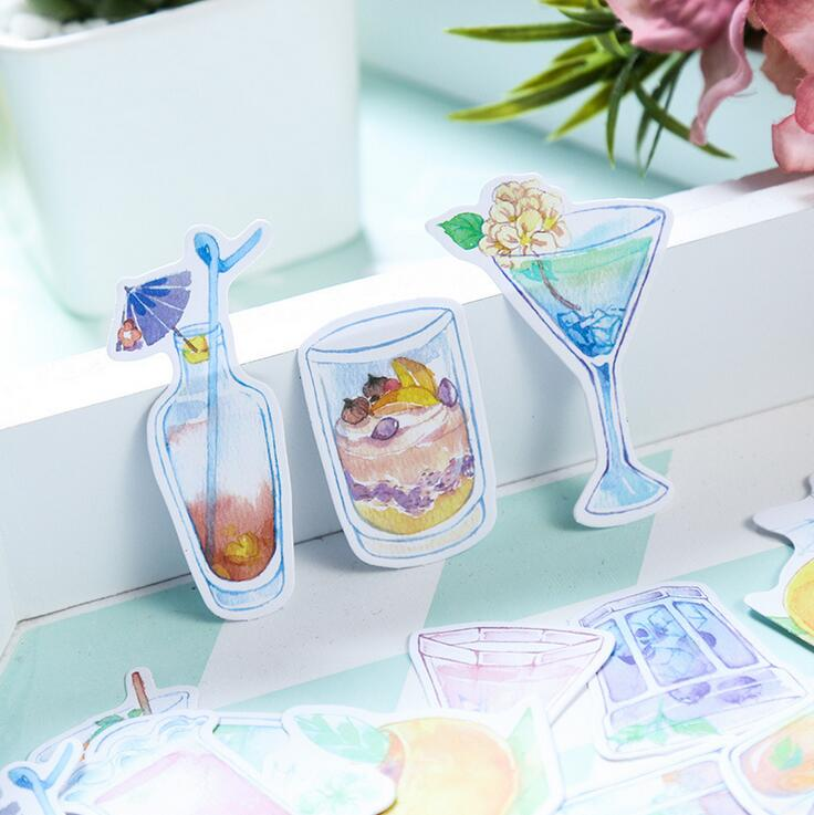 Summer Drink Ice Cream Decorative Stationery Stickers Scrapbooking DIY Diary Album Stick Lable spring and fall leaves shape pvc environmental stickers decorative diy scrapbooking keyboard personal diary stationery stickers