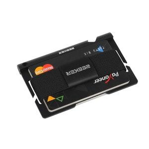 Image 4 - ZEEKER aluminiowa przednia kieszeń na karty etui na dowód Slim Metal mały portfel męski portfele