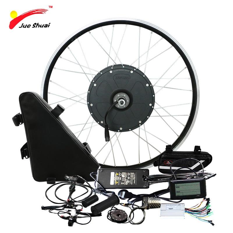 Poweful 48 V 1000 W Kit Bicicleta Elétrica com Bateria De Lítio 20ah Blushless Motor DIY Roda para 20 26 700C Ebike Kit Eletrônico