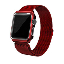 Loop Strap For Apple Watch band 42mm/38mm iwatch 3 2 1 wrist band Link Bracelet Stainless Steel band with case