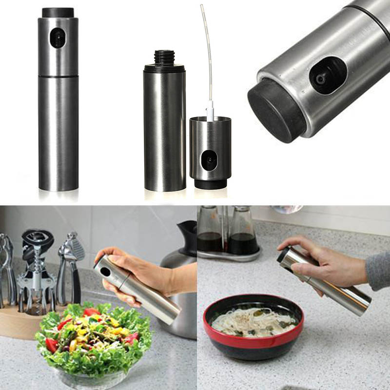 Stainless Steel Olive Mister Oil Spray Pump Fine Bottle Oil Sprayer Pot Cooking Roast Bake Oil