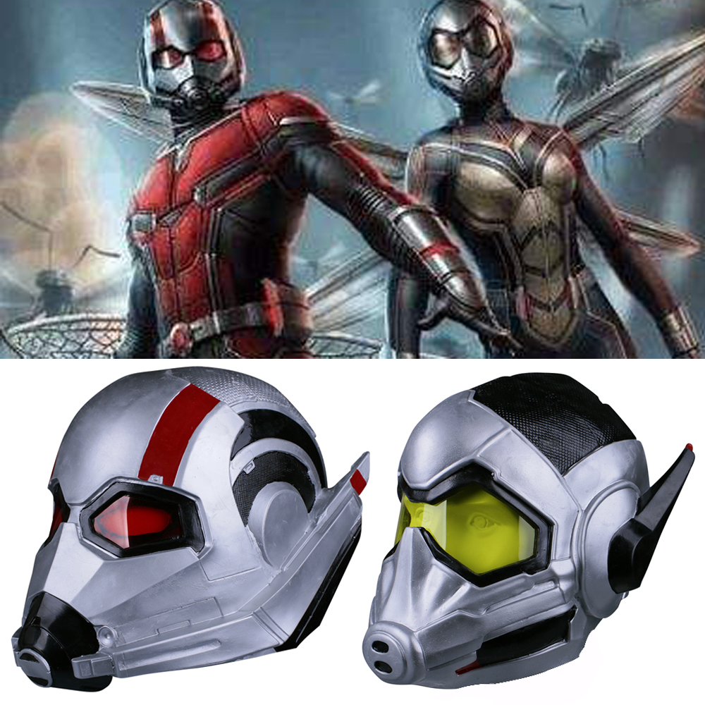 2018 Movie Antman 2 Antman And The Wasp Helmet Mask Latex Cosplay Antman Scott Lang Mask Wasp Hope Van Dyne Mask Halloween Party