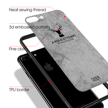 Case For iPhone Deer Cloth Texture Soft Back Cover 3