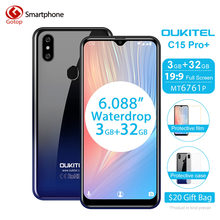 Oukitel C15 Pro + 6.088 ''19:9 Cellulare Android 9.0 Pie 3 Gb 32 Gb MT6761 Waterdrop Smartphone Viso Id 5G Wifi 4G Del Telefono Mobile(China)