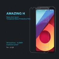 Tempered Glass For LG Q6 Screen Protector For LG Q6 PLUS NILLKIN Amazing H Nano Anti