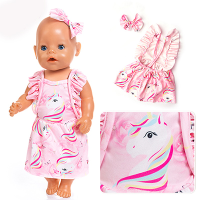 2019 New Costume Doll Clothes Fit 17 Inch 43cm Doll Clothes Born Baby Doll Clothes Suit For Baby Birthday Festival Gift