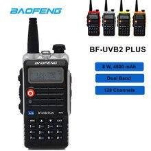 Высокая 8 Вт Baofeng Walkie Talkie BF-UVB2 PLUS двухдиапазонный VHF/UHF двухстороннее радио UVB2 10 км ветчина радио 128CH портативный приемопередатчик