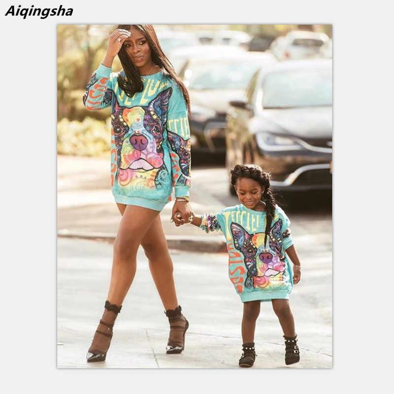 58880696b8ba Зимние платья для мамы и дочки, элегантная одежда «Мама и я», семейные