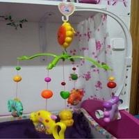 Crib Music Bell Ring Rotating Intellectual Development Toys Funny Music Baby Rattles Cute Animals Pendant Children