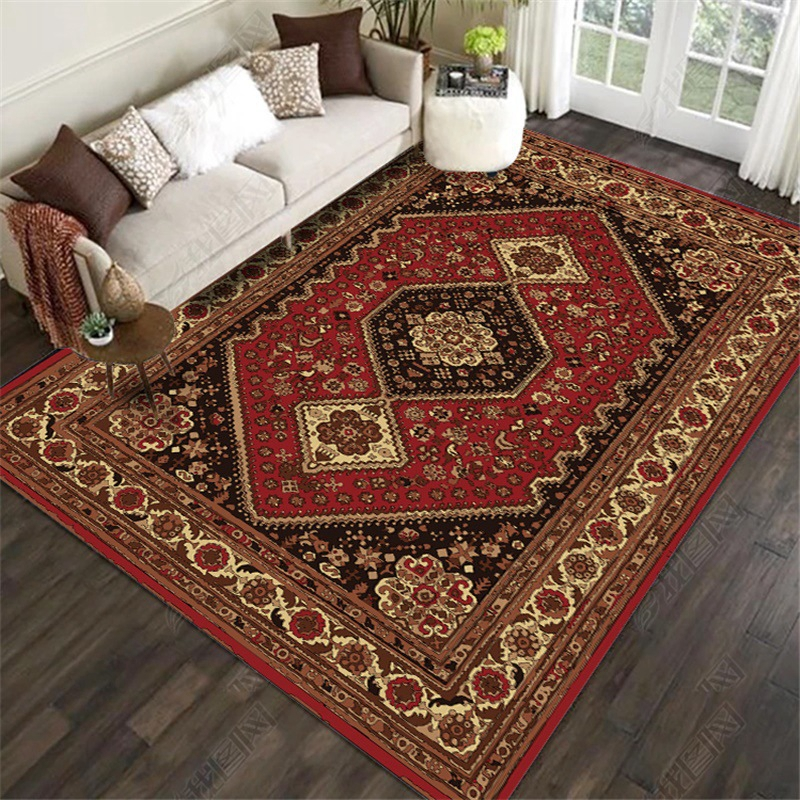 High Quality Large Area Rugs Persian Style National Printed Carpets For Living Room Bedroom Anti-Slip Floor Mat Kitchen Tapete image