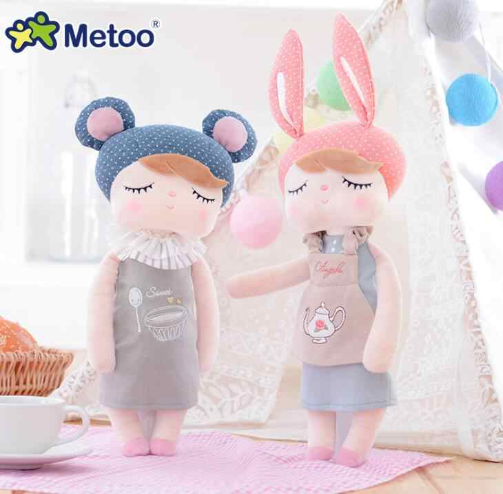 43cm/36cm Metoo Angela restoring ancient clothing stuffed toys sleep baby doll plush toy Children girls Christmas birthday gift