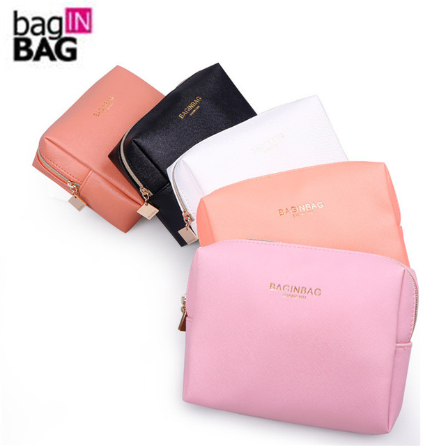 Fashion Cross Pattern Pu Leather Cosmetic Bag Women Makeup Organizer Waterproof Storage Clutch Bolsa