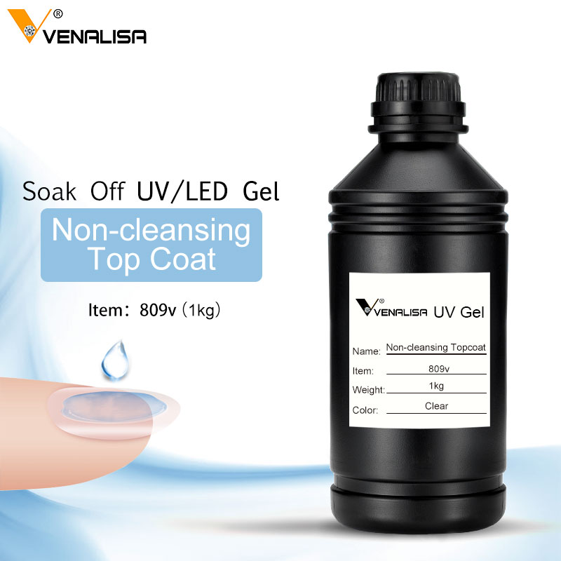 Non Cleansing Topcoat 1kg Bulk Package Express Available CANNI Best Primer Rubber Base Coat Sticky Top Coat No-wipe Matt Topcoat