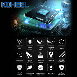 Image 2 - KOHEEL LCD 3 Color Intelligent Toilet Seat Elongated Electric Bidet Cover Smart Bidet Heating Smart Toilet Seat