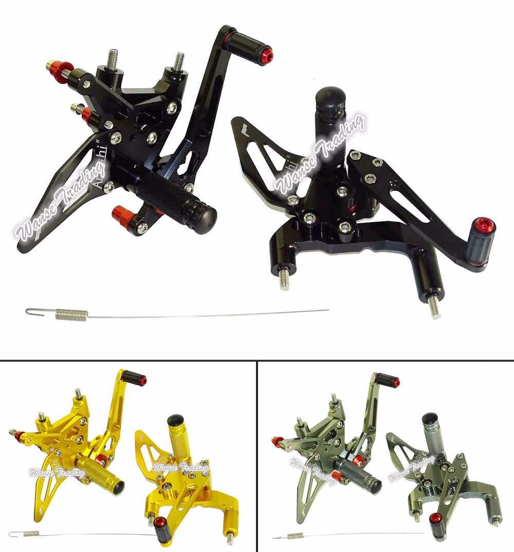 Motorcycle CNC Adjustable Rider Rear Sets Rearset Footrest Foot Rest Pegs For 2014 2015 DUCATI 899