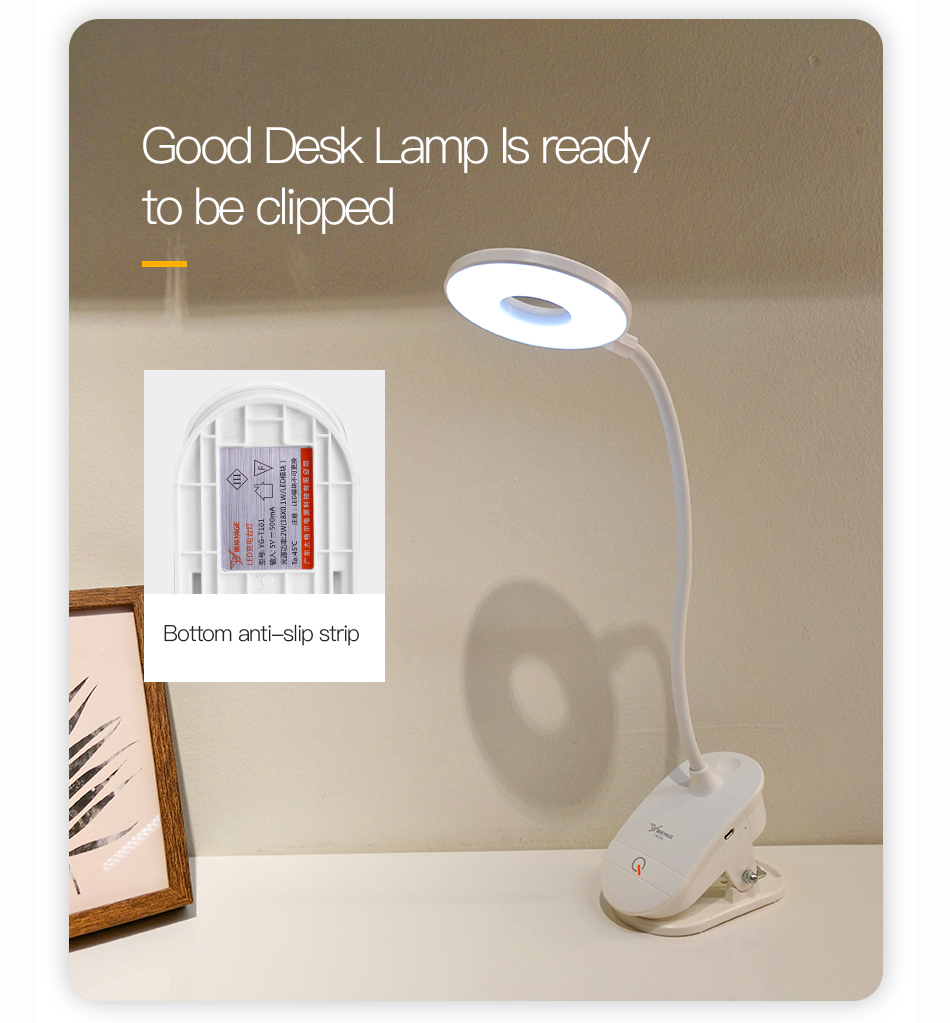 Led Table Lamp,LED Touch Desk Lamp,Desk Light,Eye Protection Desk Light,USB Rechargeable Dimmer