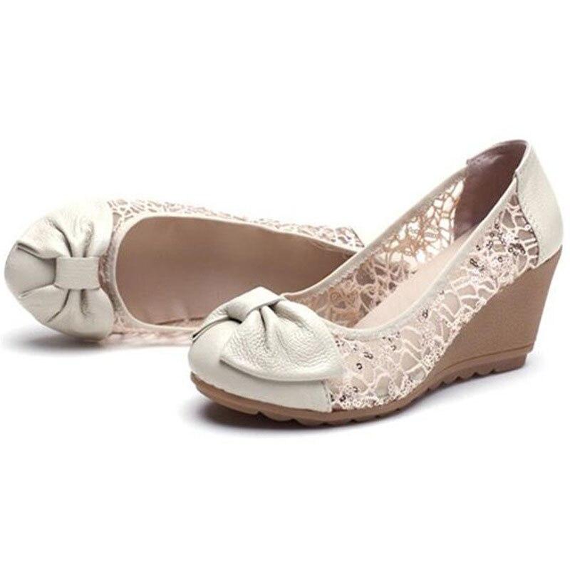 De Nudo negro Cuña Las Mujer Zapatos Cordón Bowtie blanco Verano Elegante Casuales Nuevo Señoras Beige Slip Dulce En Mariposa Wss510 Sandalias 2019 OxRAwzXqn