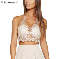 M H Artemis Sexy Embroidery Lace Bra Bralette Women Top Intimate Transparent Mesh Hollow Out Brassiere