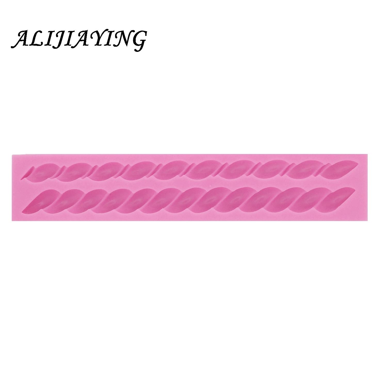 3D Long Bag Rope String Fondant Mould Knit Silicone Cake Decor