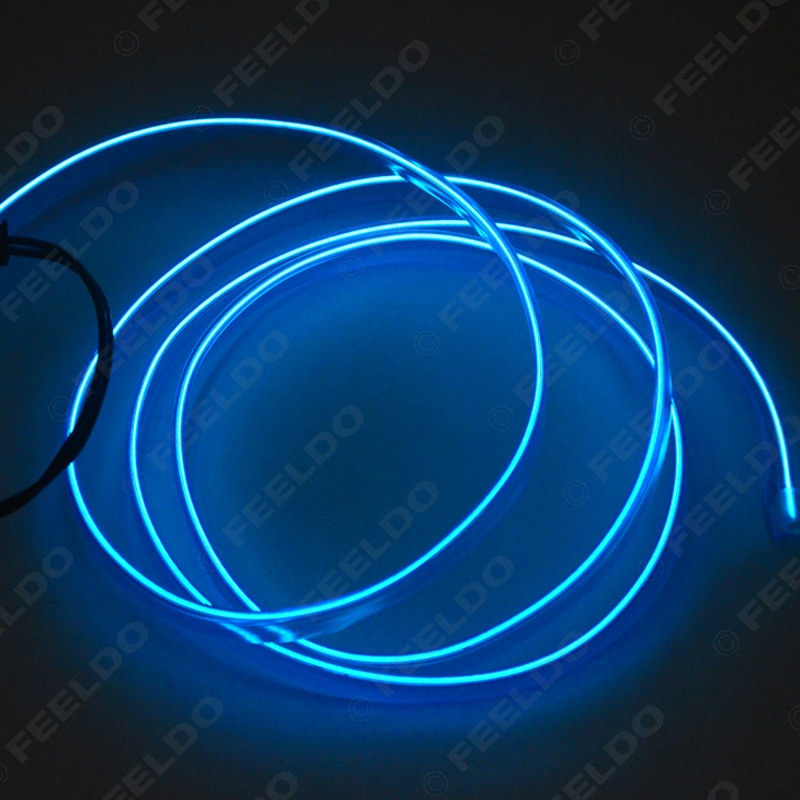 FEELDO 1Pc Blue 1m Flexibel gjutning EL Neon Glow Lighting Rep Strip - Bilbelysning - Foto 2