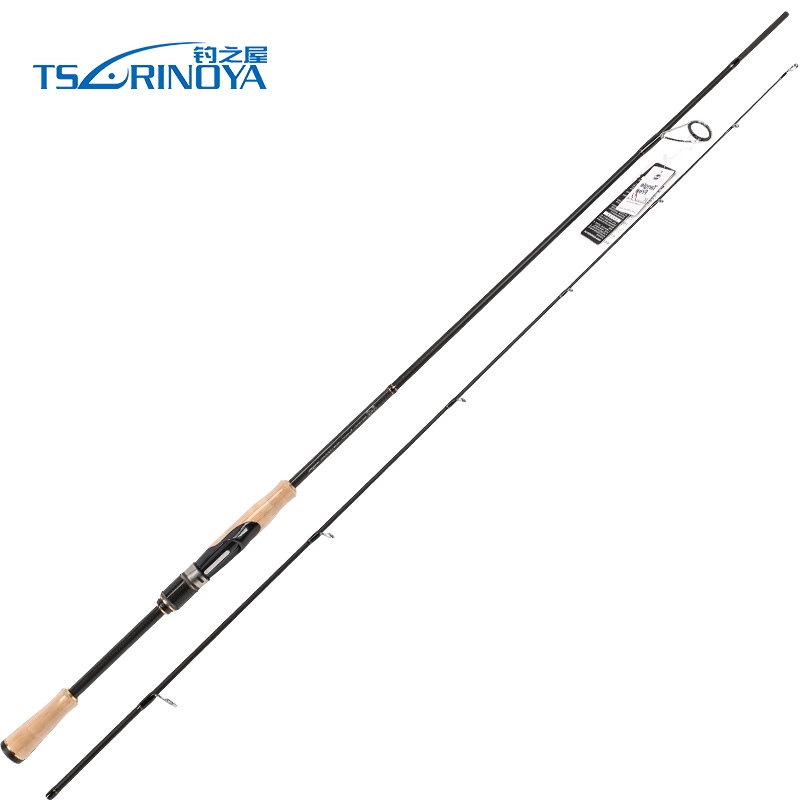 TSURINOYA 2Sec Spinning Fishing Rod Fast 2.01m/ML/4-15g 2.1m/M/5-21g FUJI Accessories TORAY Carbon Spinning Rod Canne A Peche