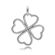 e7be6ed70 New 925 Sterling Silver Bead Charm Petals of Love Heart Clover With Crystal Necklace  Pendant Fit Pandora Bracelet Diy Jewelry