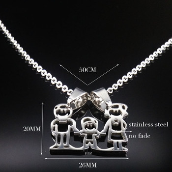 Unisex Family Necklace Jewelry Necklaces Women Jewelry Metal Color: 1 Boy