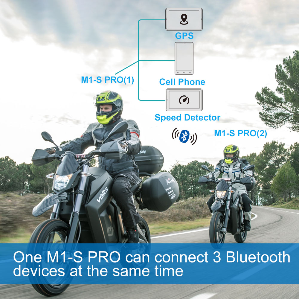 Fodsports M1-S Pro zestaw słuchawkowy z hełmofonu motocykl wodoodporny domofon domofon Bluetooth 8 Rider 1200M Intercomunicador